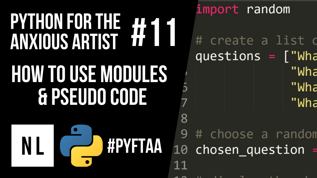 How to use python modules and pseudocode to write your first script as a CG artist.